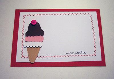 Biglietto per invito di compleanno: il cono gelato