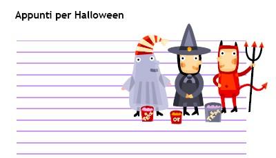 Halloween: carta per appunti e bigliettini