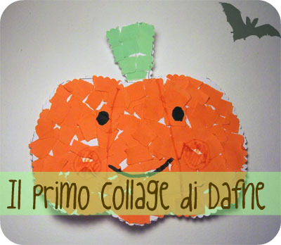 Halloween: Un collage a forma di zucca