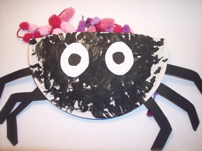 Lavoretti per Halloween: : borsa portadolcetti a forma di ragno