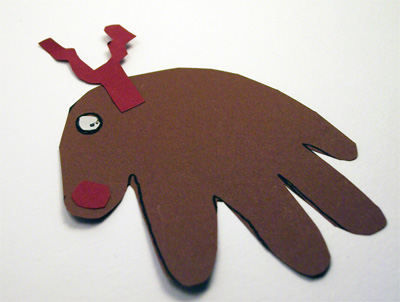 Lavoretti di Natale: la renna di Babbo Natale