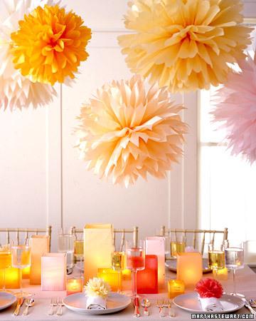 Decorazioni per le feste: pompom di carta velina