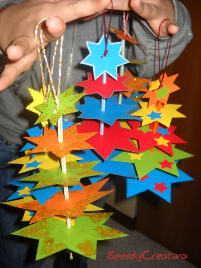 Guest post albero di stelle mamma felice for Lavoretti di natale fai da te semplici e veloci
