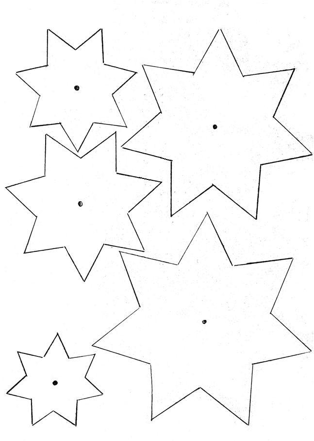 Disegno Stella Di Natale Da Colorare.Sagoma Di Stella Da Ritagliare Disegni Di Natale