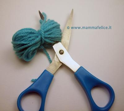 realizzare pom pom di lana