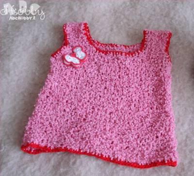 Elisabetta: una baby canotta lavorata a maglia