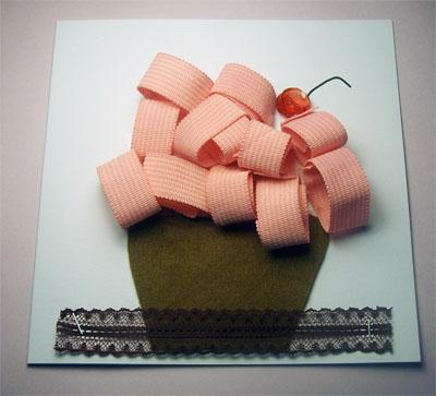Un goloso bigliettino cupcake