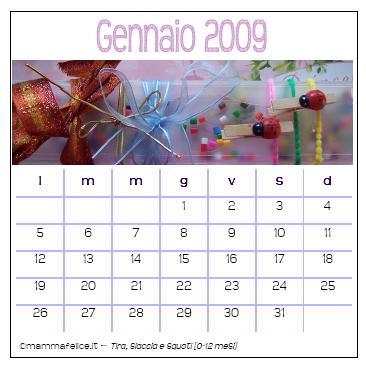 Calendario da tavolo 2009 (e un po' di vacanza)