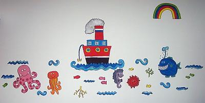 Decorazioni di pannolenci: i pesci del Mar Frollo
