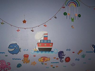 Immagini per decorare i muri delle camerette per bambini - Murales cameretta bimbi ...