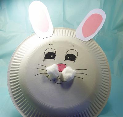 Speciale pasqua come ti trasformo un piatto di carta in un coniglio mamma felice - Lavori da fare a casa ...