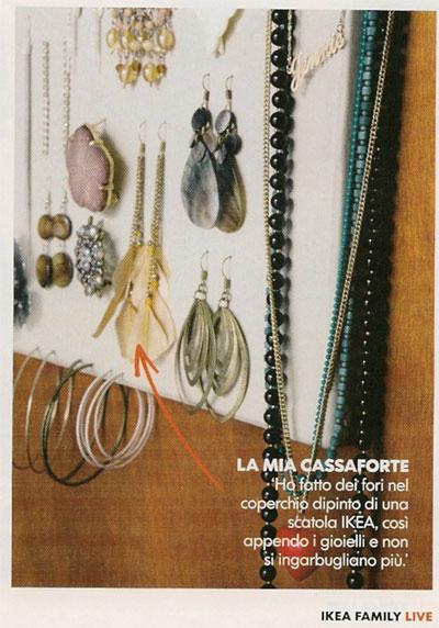 Tenere in ordine orecchini braccialetti e collane mamma - Porta gioielli ikea ...