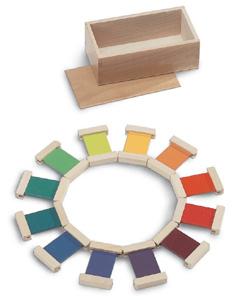 Le spolette dei colori: appaiare, nominare, distinguere colori, gradazioni e sfumature