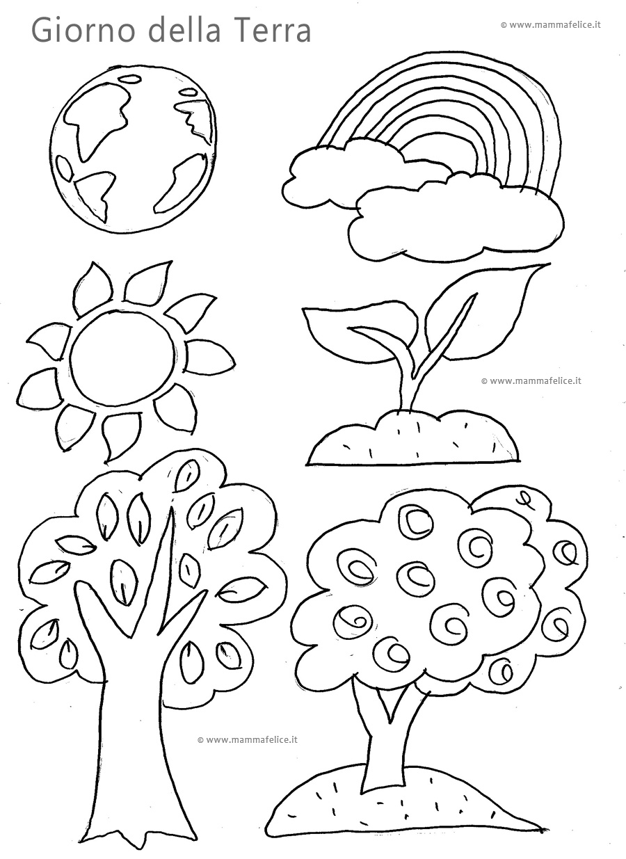 Disegni da colorare il giorno della terra mamma felice for Disegni pesciolini da colorare