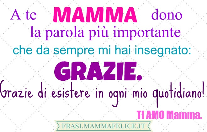 Molto FRASI MAMMA Dediche, Aforismi, Poesie, Lettere per la mamma  CC11