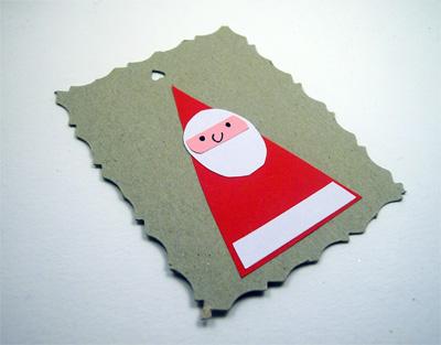 Decorazioni di Natale: tag di Babbo Natale