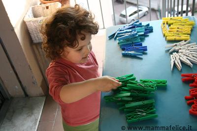 giochi montessori sui colori