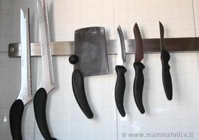 come riporre i coltelli da cucina