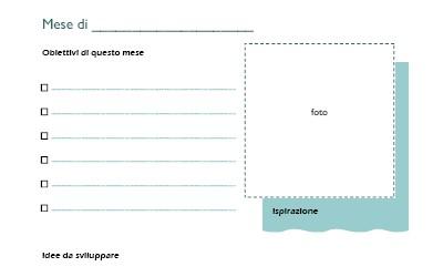 pdf da scaricare con obiettivi mensili