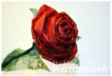rose di carta faidate