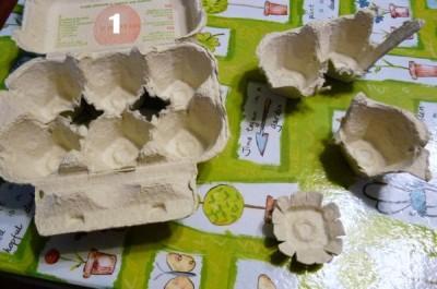 segnalibro riciclato con cartone uova