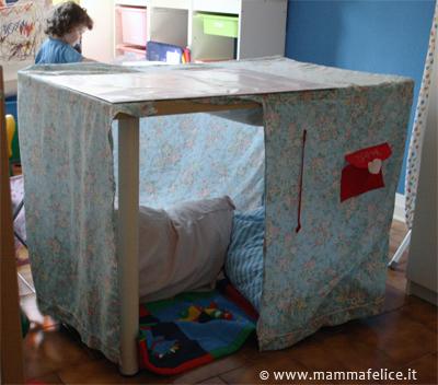 Cucito creativo casa giocattolo faidate mamma felice for Costruire una semplice capanna di legno