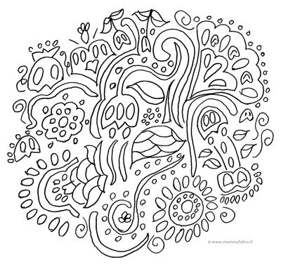 Fiori mandala da colorare mamma felice for Fiori facili da disegnare
