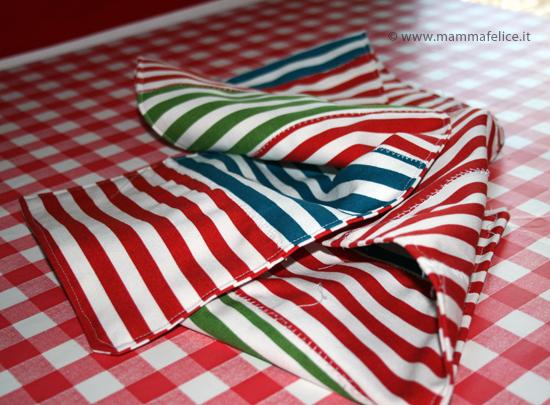 Cucito creativo semplice runner per il tavolo mamma felice - Ikea runner tavolo ...