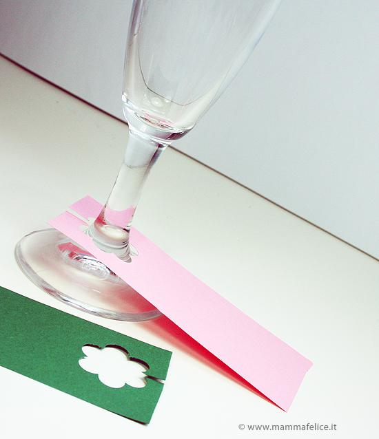 segnaposto per bicchieri con stelo