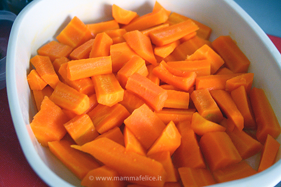 crema di carote vegetariana