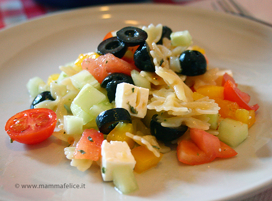 insalata greca di pasta