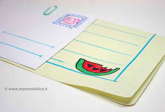 Tutorial per creare carta da lettere estiva per bambini faidate