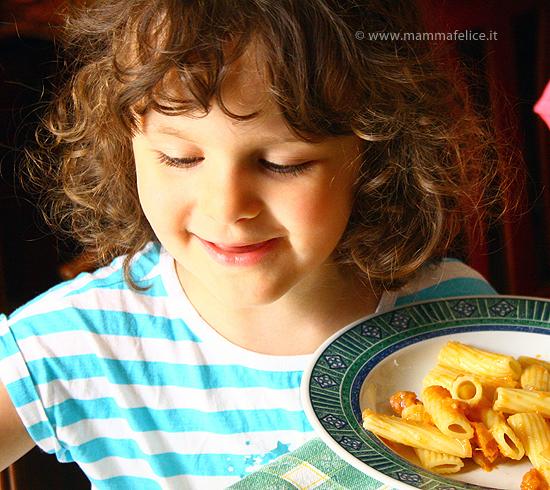 pasta con zucca e salsiccia: ricetta facile fotografata passo passo
