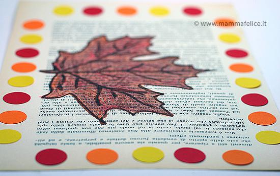 Lavoretti d 39 autunno la foglia di vite mamma felice - Modello di foglia per bambini ...