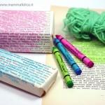 Con scatoline colorate a mano