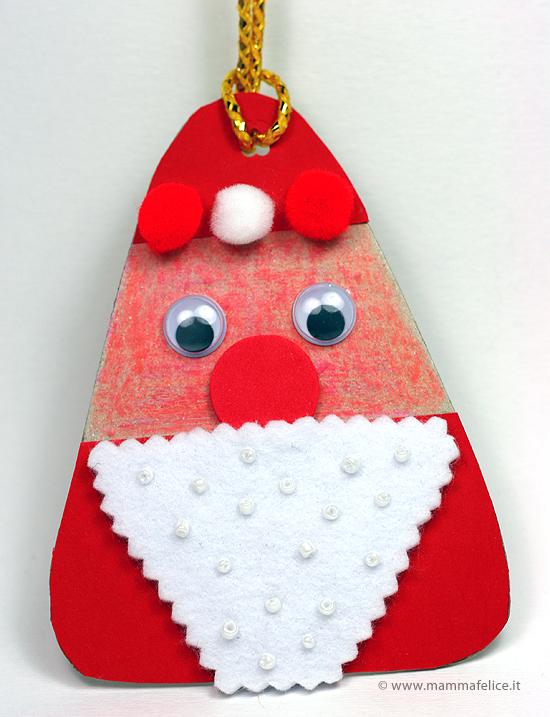 Babbo Natale Lavoretti.Lavoretti Natale Decorazione Babbo Natale Mamma Felice