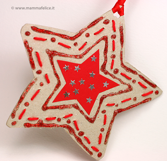 Lavoretti avvento stella di natale mamma felice - Decorazioni stelle di natale ...