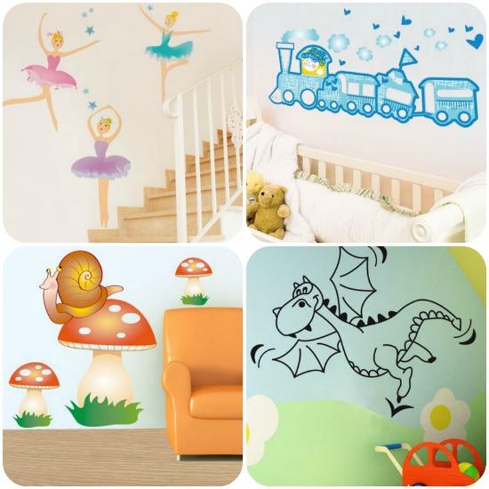Casa moderna roma italy decorazioni per - Adesivi murali per camerette ...