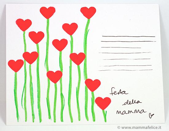 bilhete partido-mãe-corações