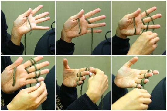 finger-knitting