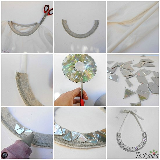collage collana maglia con cd