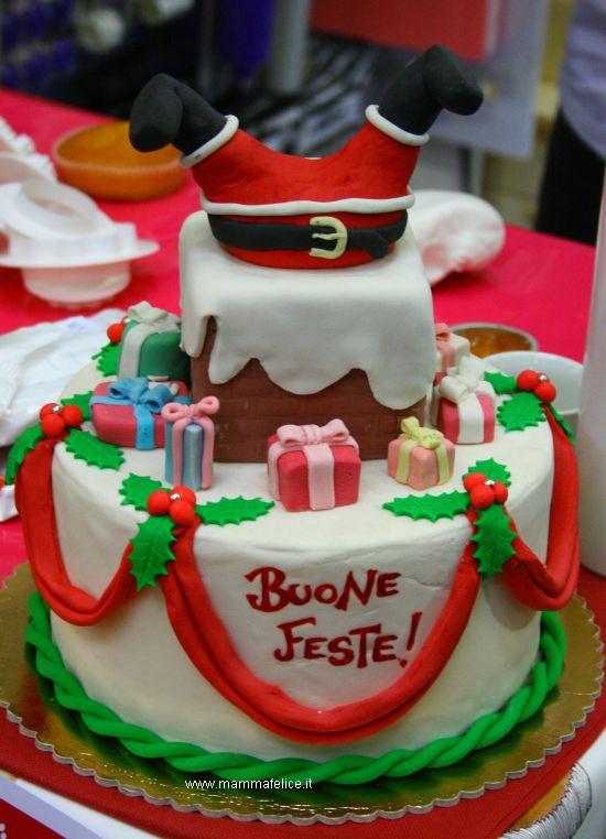 La torta di babbo natale mamma felice - Torte natalizie decorate ...