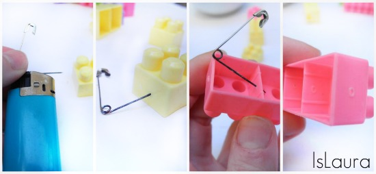 collage foratura lego