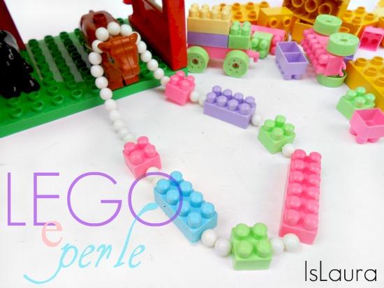 collana di lego con le perle