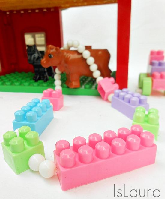 collana di perle e lego