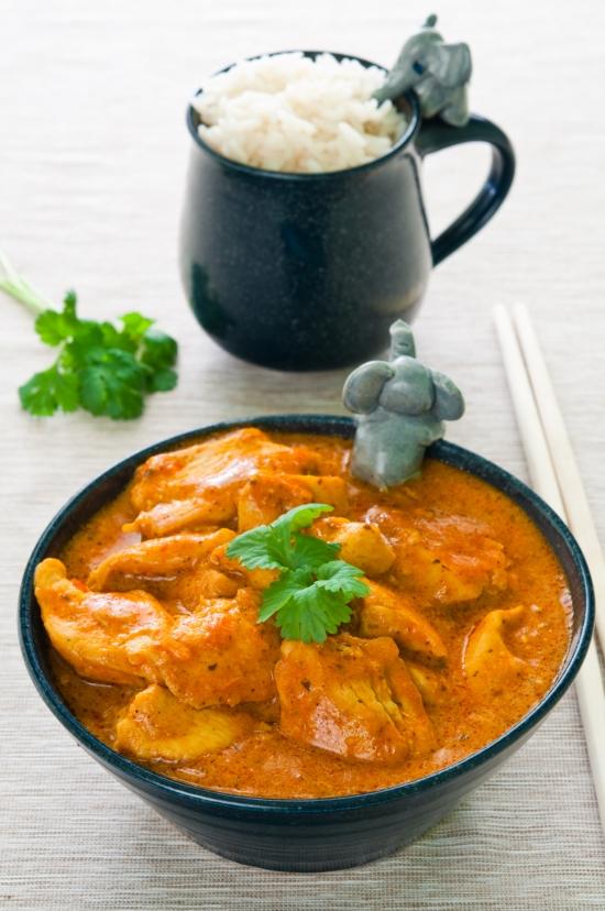 pollo indiano al curry con riso basmati