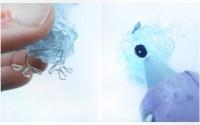 collage animaletto di plastica