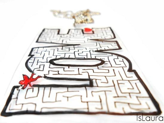ciondolo Love labirinto con vassoio