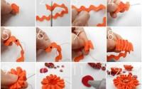 collage fiore fettuccia zig zag