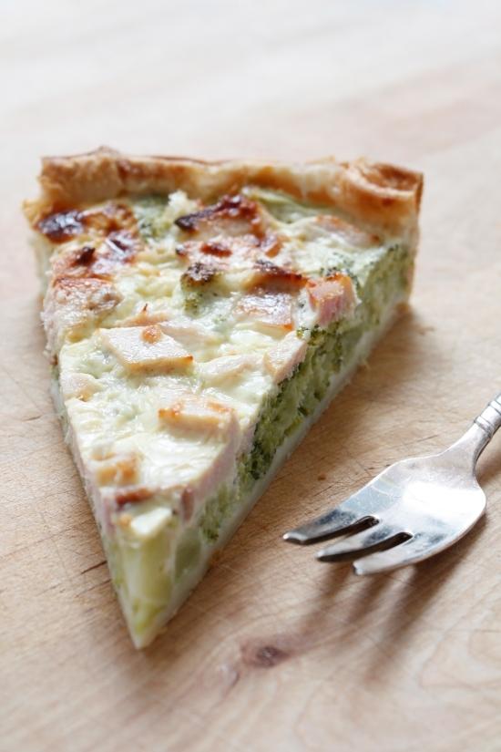 torta salata broccoli e pesto